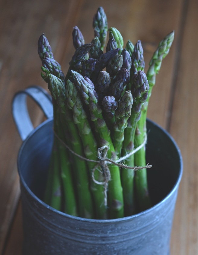 roasted asparagus with thyme, lemon and parmesan | conifères & feuillus