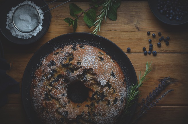 blueberry lemon cake with cinnamon | conifères et feuillus food blog