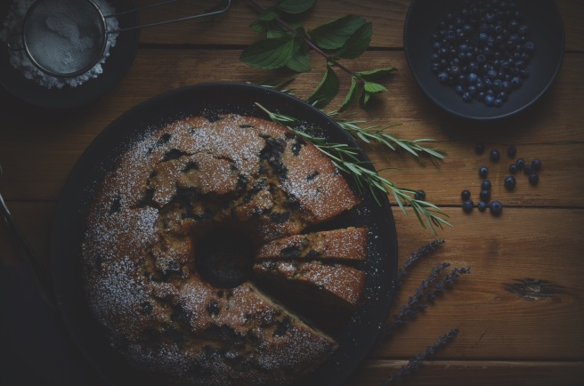 blueberry lemon cake with cinnamon | conifères & feuillus