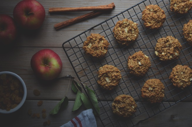 apple oatmeal cookies | conifères et feuillus
