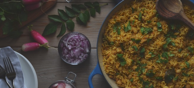 How to make the perfect chickpea biryani each time.