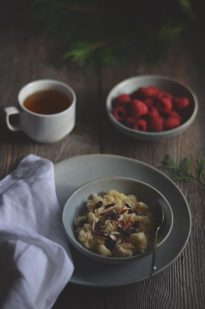 warm semolina pudding for breakfast | conifères et feuillus food blog