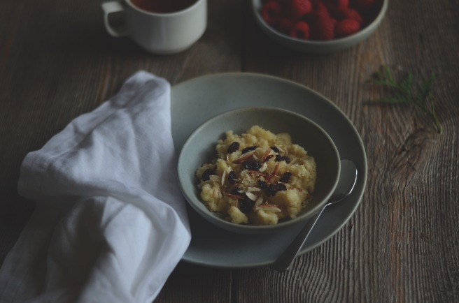 warm semolina pudding for breakfast | conifères et feuillus food blog