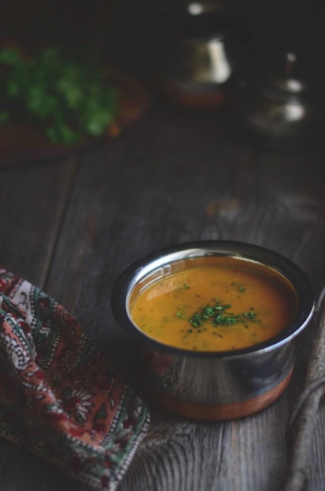 Toor Dal (Split Pigeon Peas) Soup | conifères & feuillus
