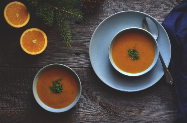 split pigeon pea and orange soup | conifères & feuillus