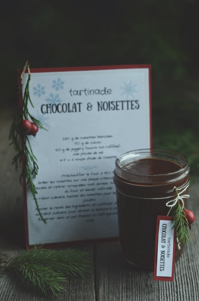 Vegan homemade chocolate and hazelnut spread | conifères & feuillus