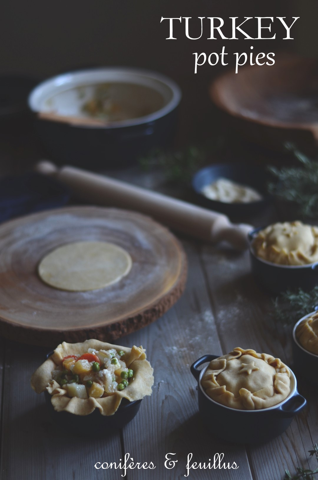 Leftover turkey pot pies. | conifères & feuillus food blog