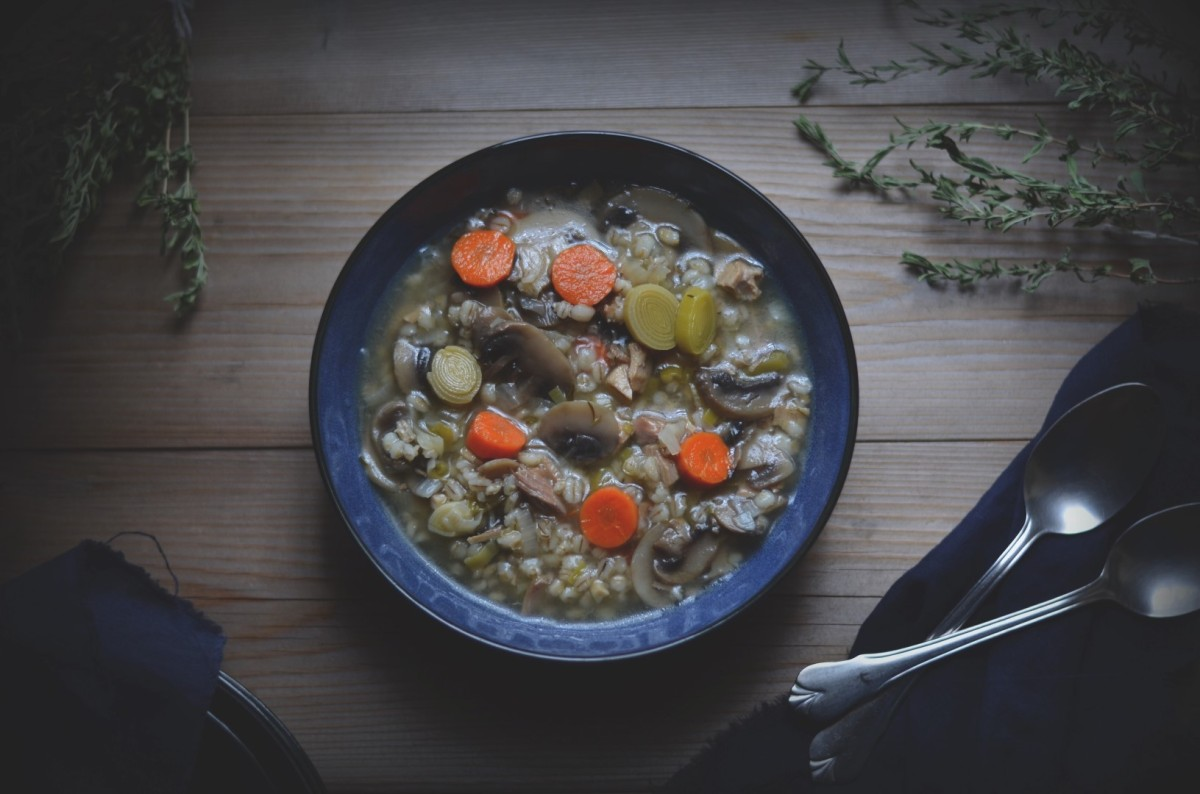 turkey, barley and vegetable soup | conifères & feuillus