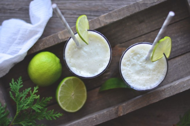 Healthy, easy and delicious: 3-ingredient lime smoothie. | conifères & feuillus