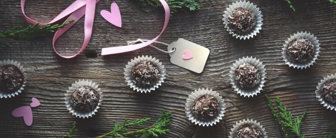 vegan chocolate and hazelnut truffles