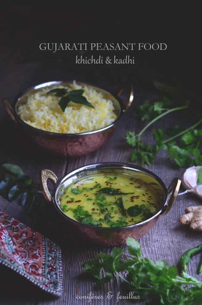 gujarati peasant food, khichdi & kadhi | conifères & feuillus