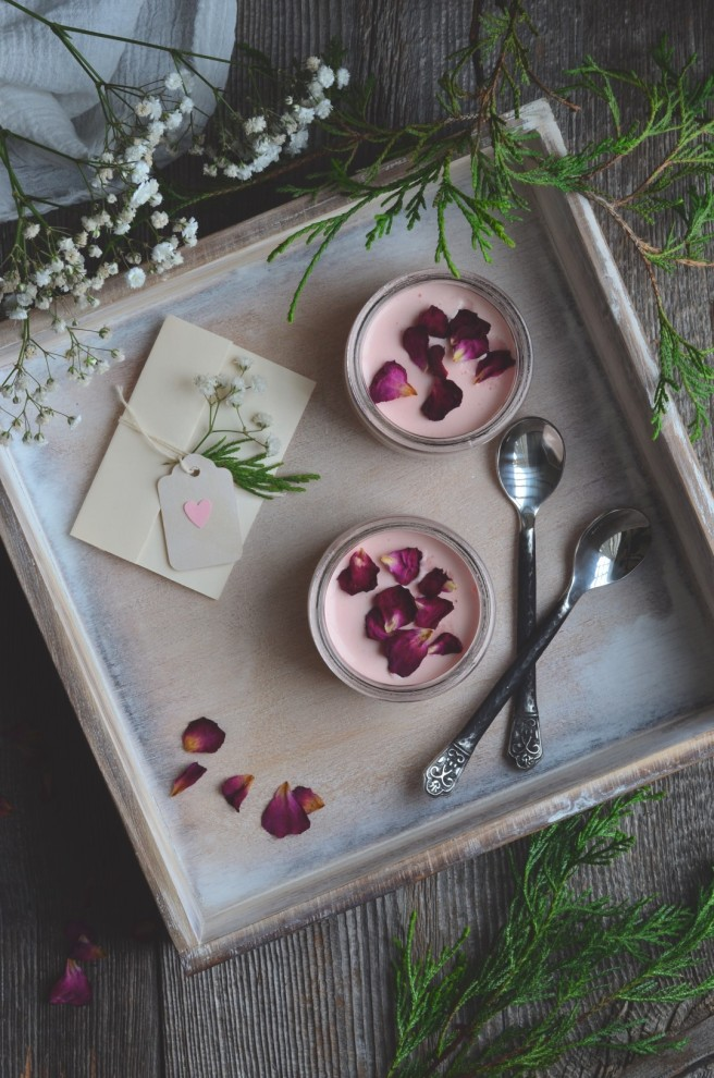 rosewater lemon and blood orange posset | conifères & feuillus