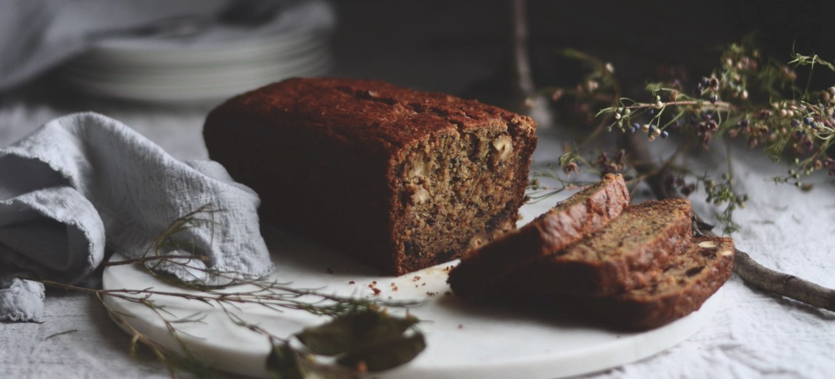 hunger & hope: banana bread with nuts & dates