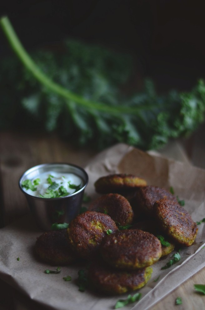 kale chickpea patties | conifères & feuillus