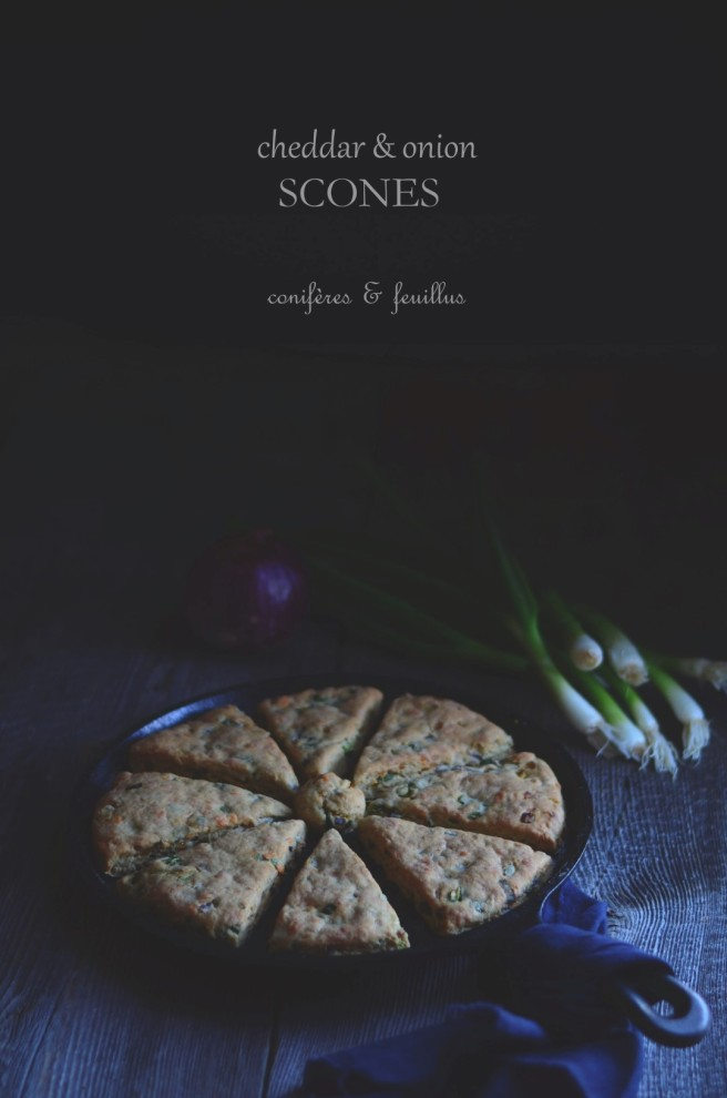 cheddar cheese and onion scones | conifères & feuillus