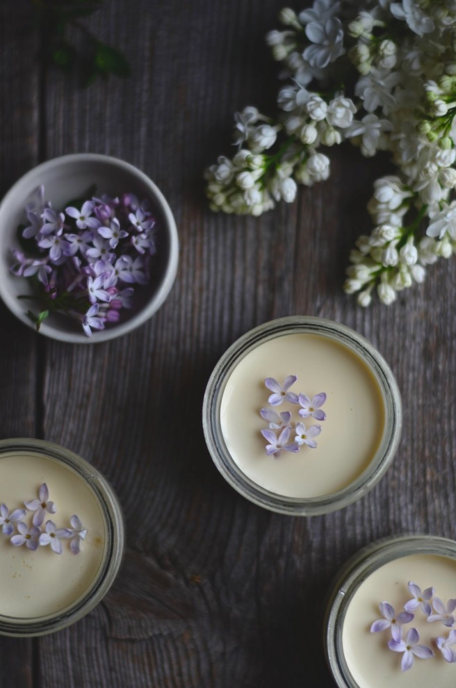 thyme and lilac infused lemon posset | conifères & feuillus