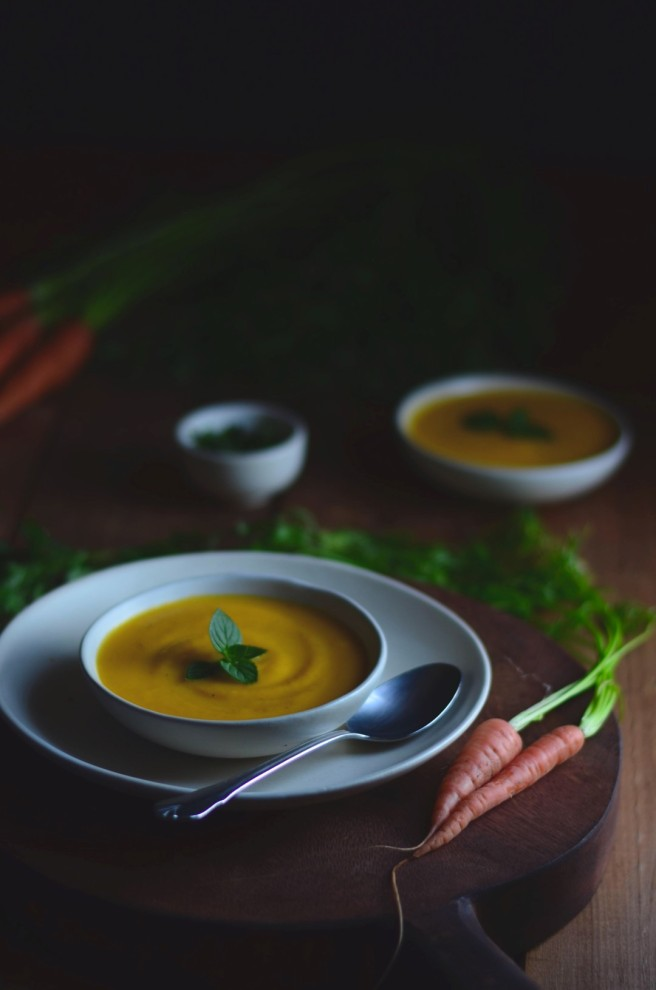 butternut squash carrot and ginger soup