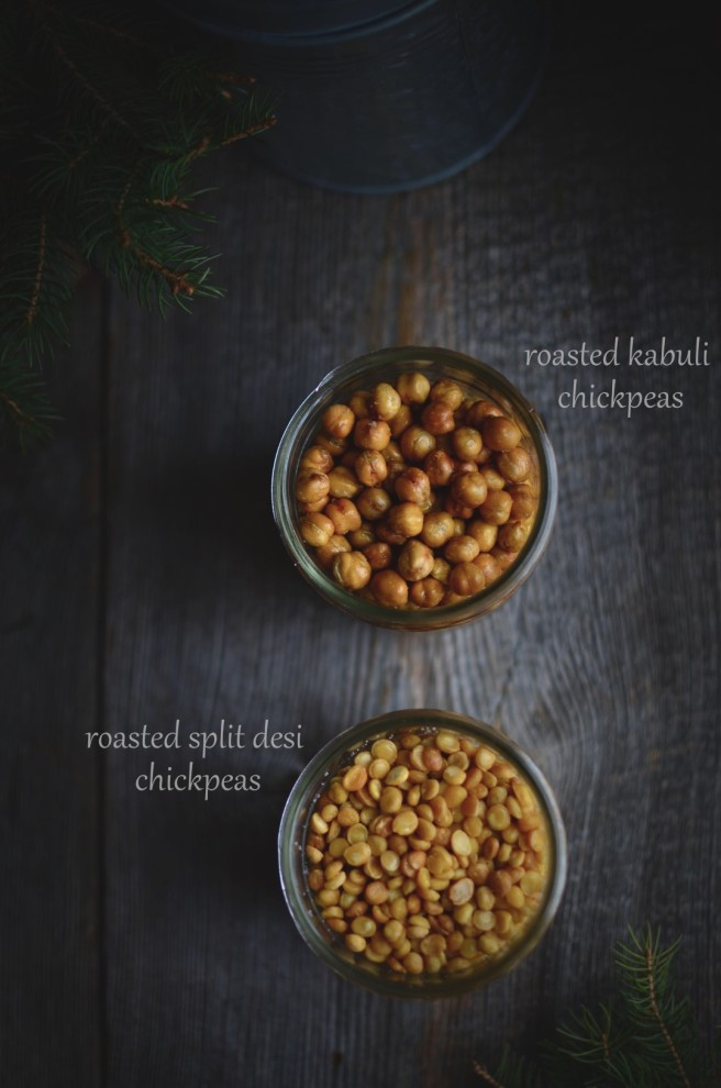 roasted split desi chickpeas | conifères & feuillus