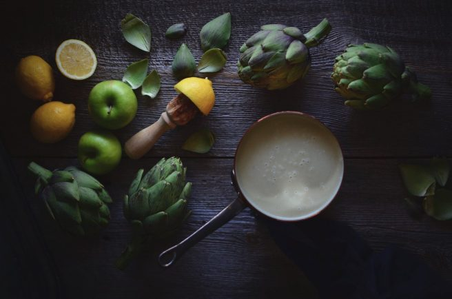 artichoke and apple soup | conifères & feuillus