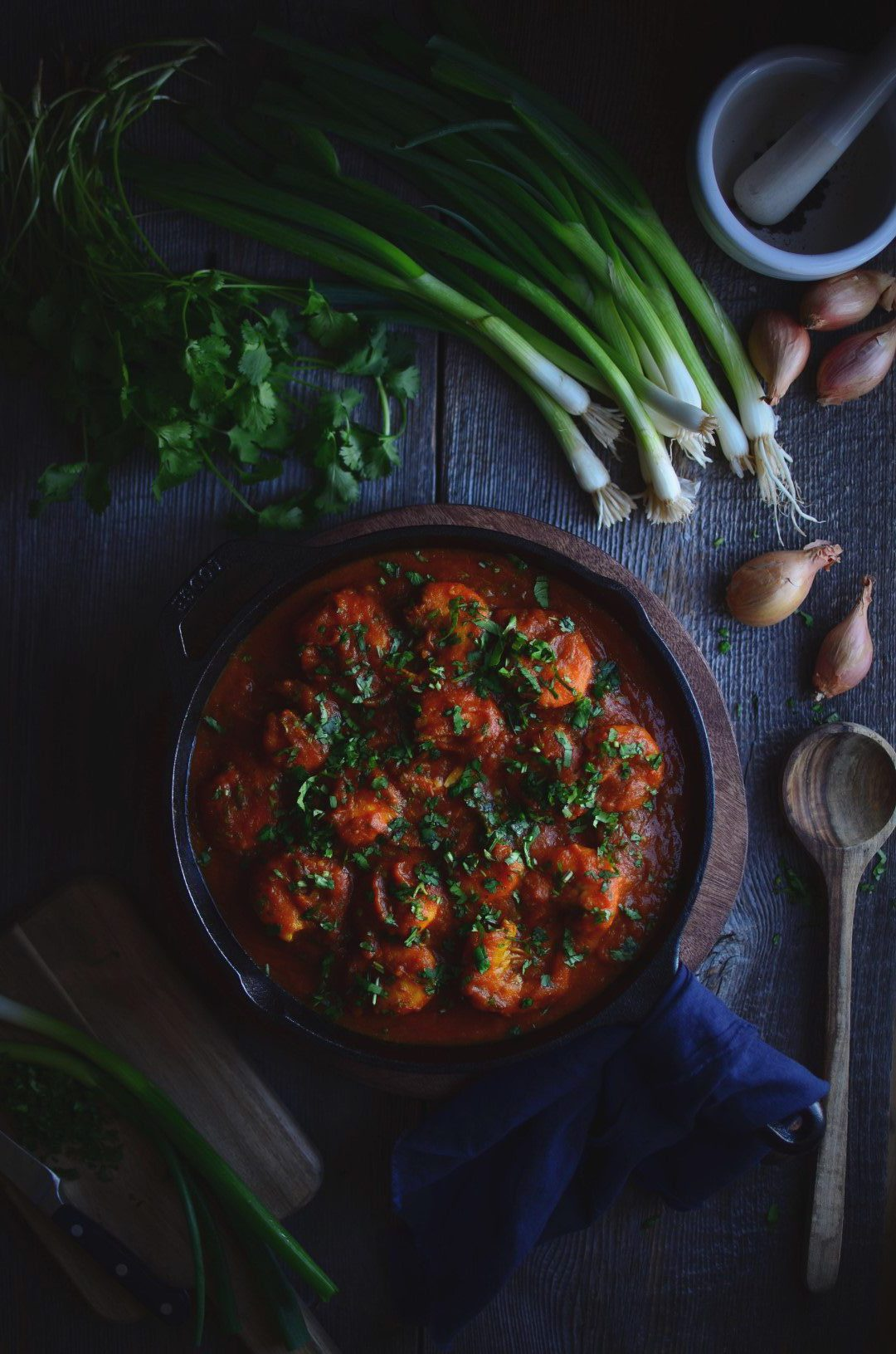 spicy indian shrimp curry | conifères & feuillus