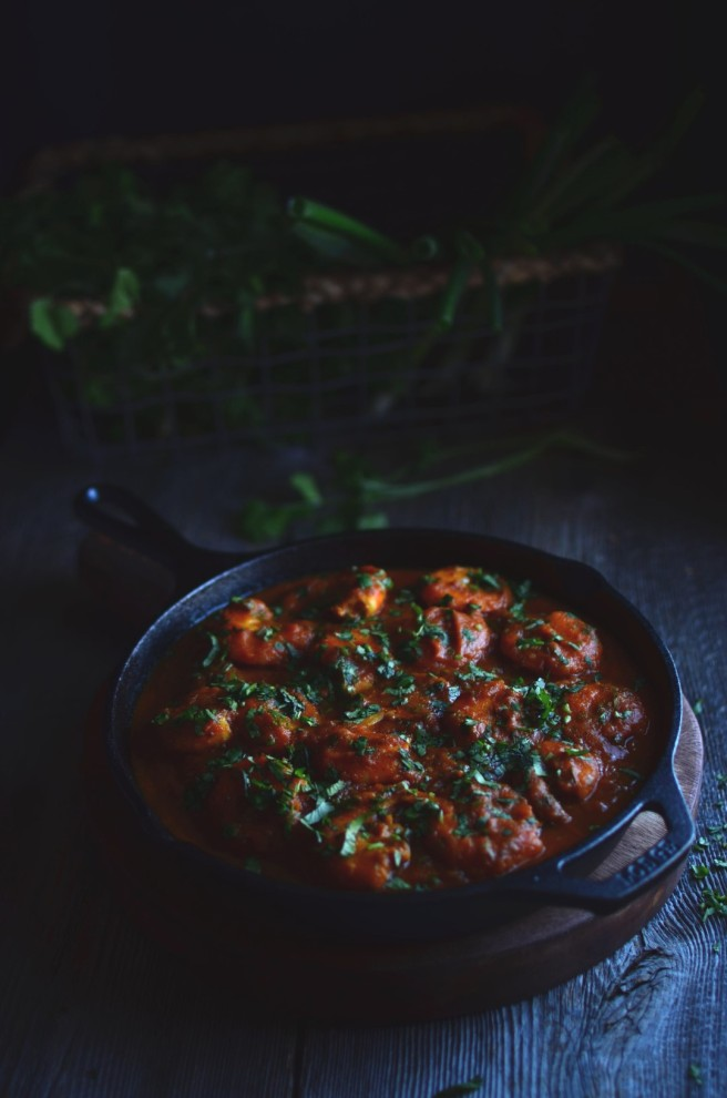 spicy indian shrimp curry | conifères & feuillus
