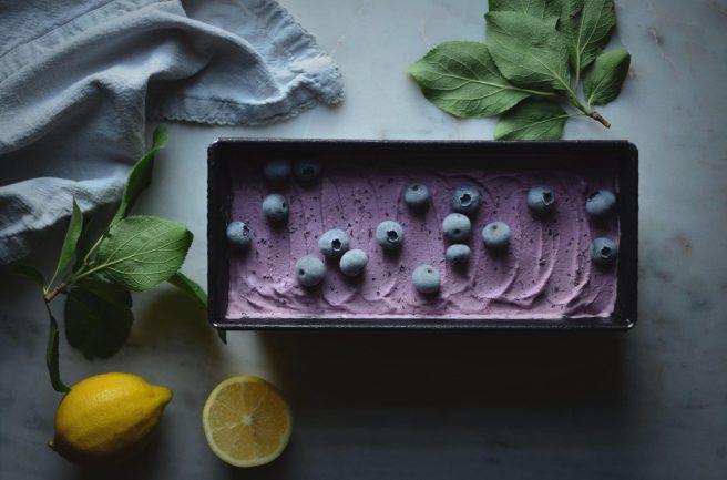 Blueberry & Lemon Mascarpone Ice Cream   conifères & feuillus