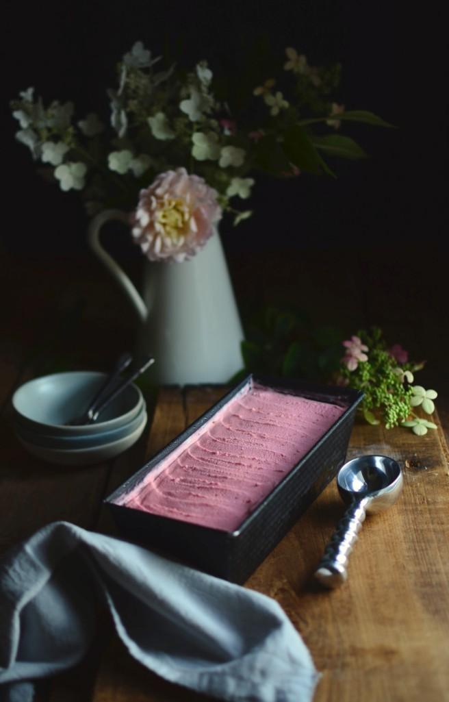 Raspberry Limoncello Ice Cream | conifères & feuillus
