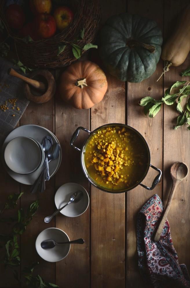 pumpkin channa dal | conifères & feuillus