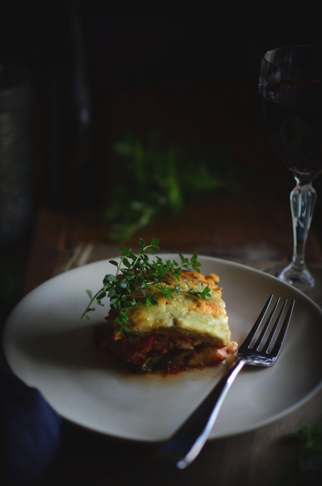 lamb moussaka | conifères & feuillus