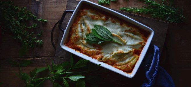 spinach and ricotta stuffed pasta shells | conifères & feuillus